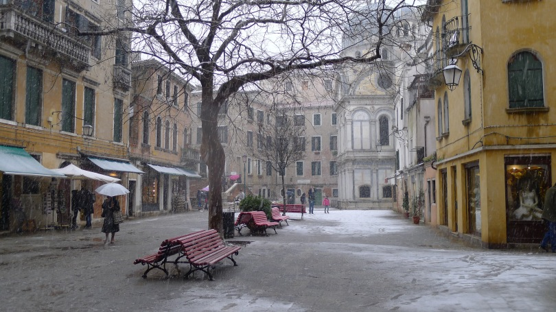 Venice Italy in the Snow