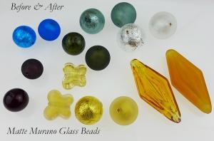 Make your own Matte Murano Glass Beads