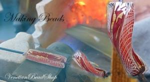 Video of Making Venetian Beads, Zanfirico Murano Glass Beads