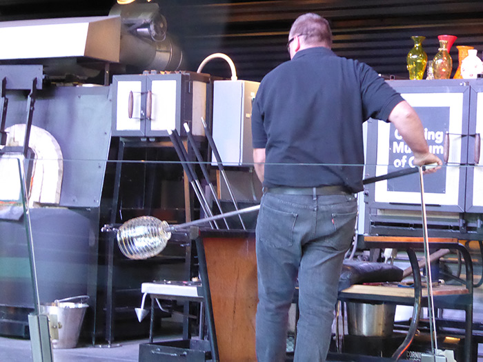 Blowing Glass in the Park!