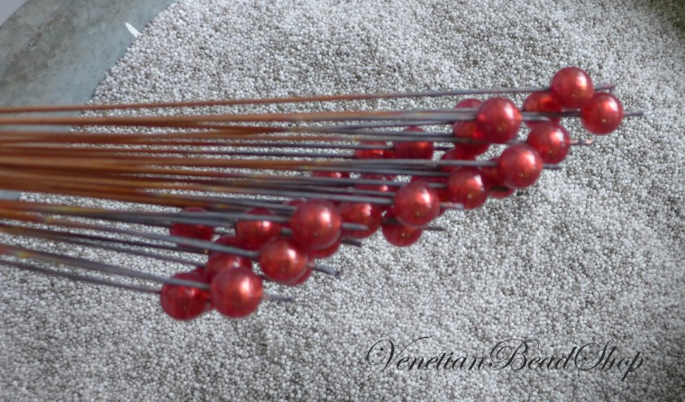 Red Venetian Glass Beads,Round Murano Glass Beads,Making Beads,Lampwork Beads,Murano Glass
