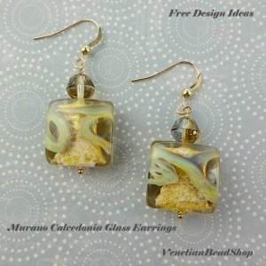 Free Design Instructions,DIY,Calcedonia Earrings