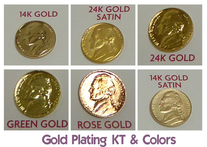 Gold Plating Colors - Gold Plated Jewelry