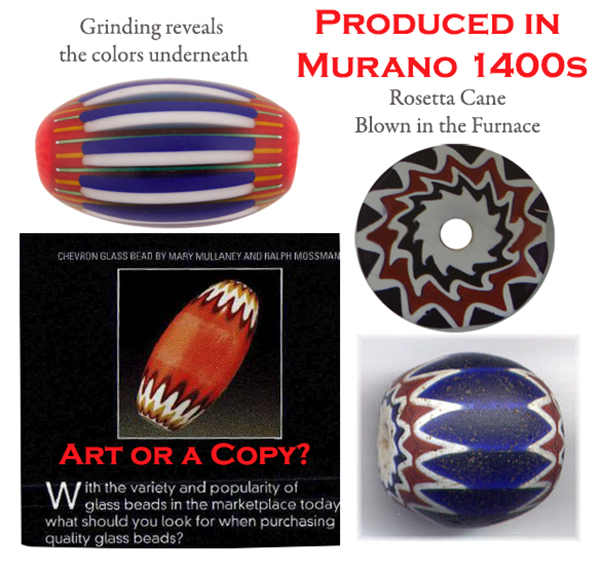 Chevron Beads,Murano Glass Beads,History of Venetian Beads,Murano Glass Beads History