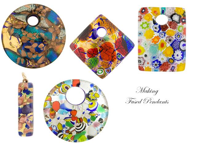 Fused Murano Glass Pendants,Murano Glass