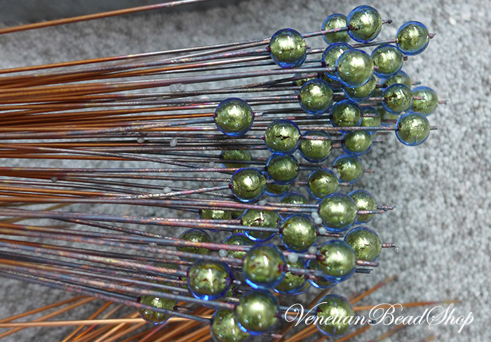 Beads on Copper Mandrels