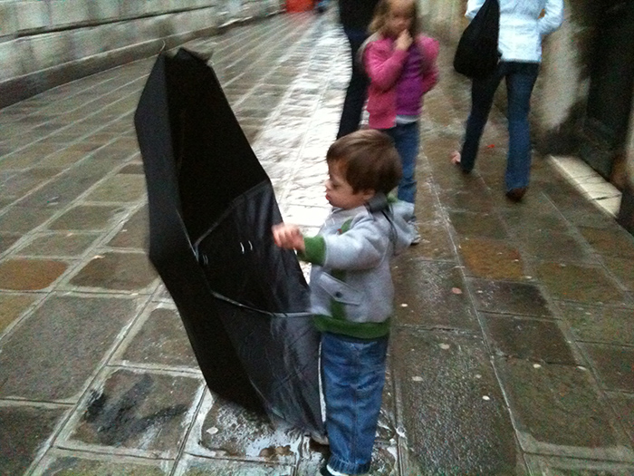 Kids and Umbrellas and Canals?