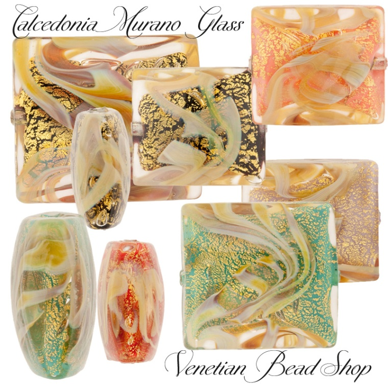 Calcedonia Glass Beads,Murano Calcedonia Glass Beads,Venetian Beads,Murano Beads