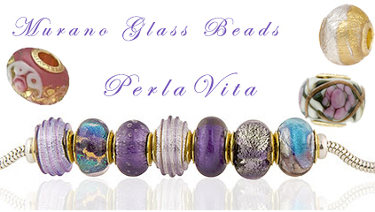 PerlaVita Beads, Exclusive Venetian bead Shop Large Hole Beads