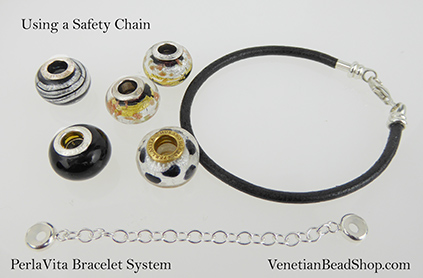 Shop for our PerlaVita Bracelets and Safety Chain