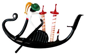 Our Original Logo - A Gondola made by a Lampworker in Murano
