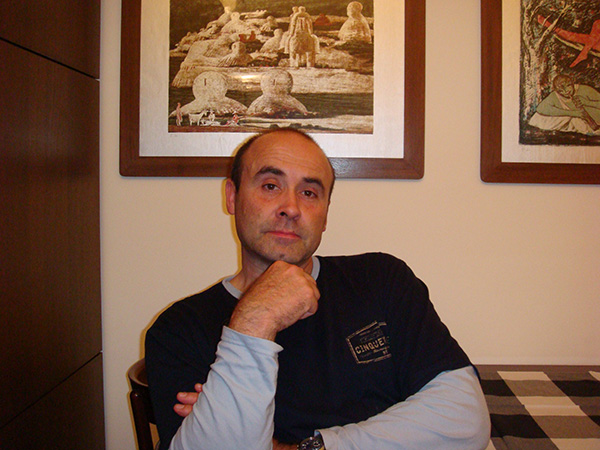 Vince at home in Italy.