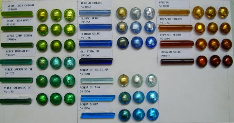 VenetianBeadShop Colors 24kt Gold Foil Beads